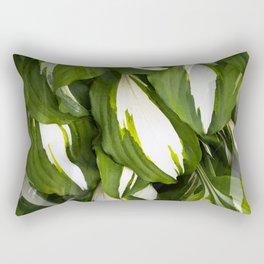 Beautiful Variagated Green Leaves Nature #decor #society6 #buyart Rectangular Pillow