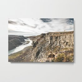 Running over the Rocks of Iceland Metal Print