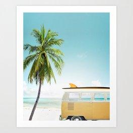 Travel surfing life Art Print