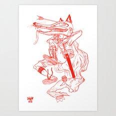 Escape Of Fox King Art Print