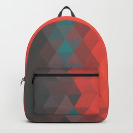 Red poly pattern Backpack