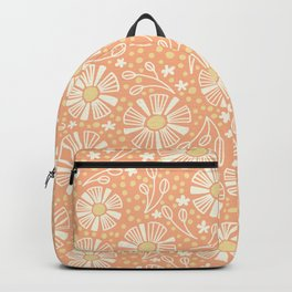 Orange Summer Blooms Backpack