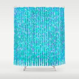 Fleeing Trees Pattern Shower Curtain