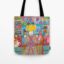 Doing Dishes With Friends Tote Bag