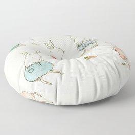 If Rabbits Wore Pants Floor Pillow