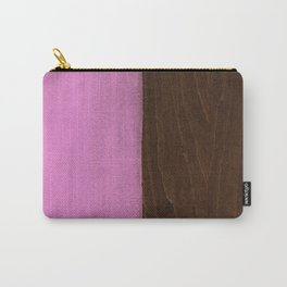 Pink Paint on Wood Carry-All Pouch