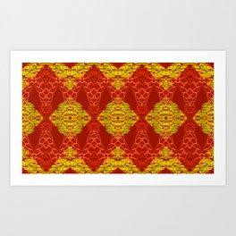 Stunning African Geometric Quilt Art Print