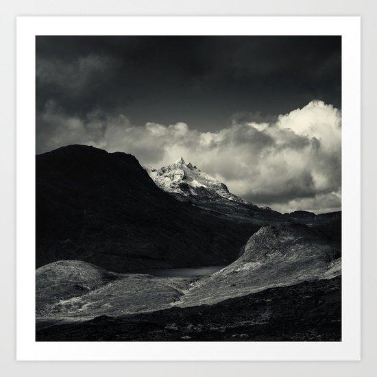 Sgùrr nan Gillean and Loch na Creitheach from Camasunary, Isle of Skye Art Print