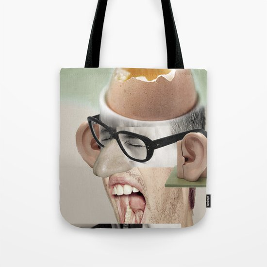 """""""a yawn is a silent shout"""" Tote Bag"""