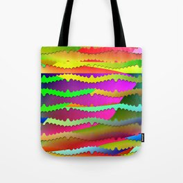 Artistic-fence-pattern Tote Bag