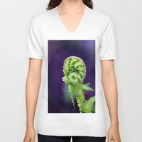 fern V-neck T-shirts featuring Fern by LoRo  Art & Pictures