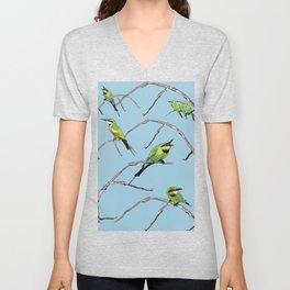 Rainbow Bee-eater (Merops ornatus) by Chrissy Wild Unisex V-Neck