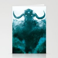 shadow of the colossus Stationery Cards featuring The Colossus by kriztille