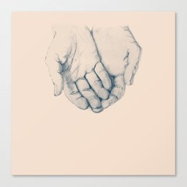 this is your hand, these are my hands, this is the world. Canvas Print