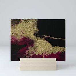 Black Honey - resin abstract painting Mini Art Print
