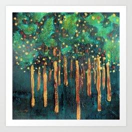 Lollipop Trees Art Print