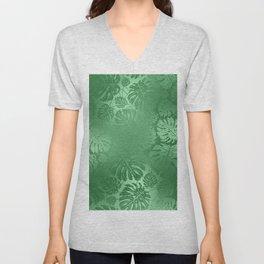 Green Leafs Pattern modern desig Unisex V-Neck