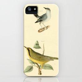 056 Blue grey Gnatcatcher (Culicivora cerulea) Kentucky Warbler (Sylvicola formosa)13 iPhone Case