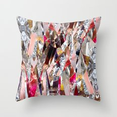 Crystal madness Throw Pillow