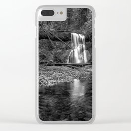 Upper North Falls bw Clear iPhone Case
