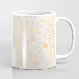 Floral watercolor orange pattern 2 Coffee Mug