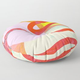 Abstract Composition No. 4 Floor Pillow