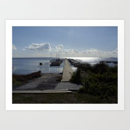 Bjarred jetty  Art Print