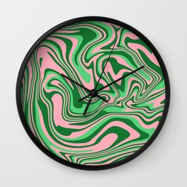 Abstract Fluid 21 Wall Clock