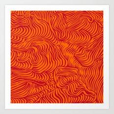 orange red flow Art Print