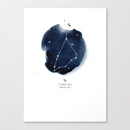 Zodiac Star Constellation - Capricorn Canvas Print