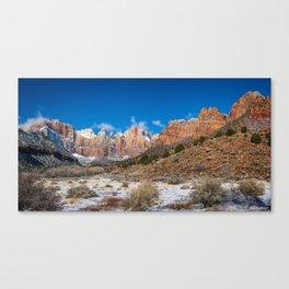 Zion Winter - 4724 Panorama Canvas Print