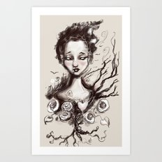 Scatter Heart Art Print
