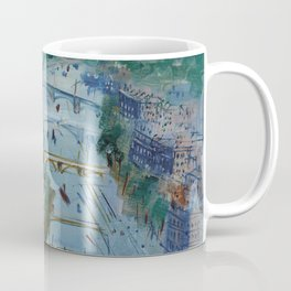 River Seine, Paris, France in Moonlight landscape painting wall decor by Jéan Dufy Coffee Mug