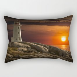 Lighthouse at Sunset in the Peggy's Cove Rectangular Pillow