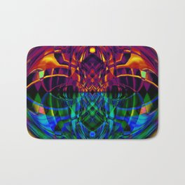 Fire and ice abstract Bath Mat