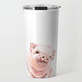 Pink Baby Pig Travel Mug