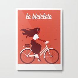 La Bicicleta Metal Print