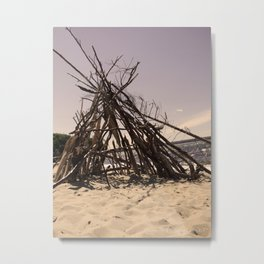 Beach Homes Metal Print