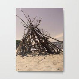 Beach Homes Metal Print