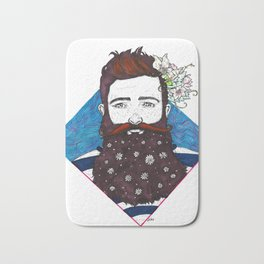 He Came With Flowers Bath Mat