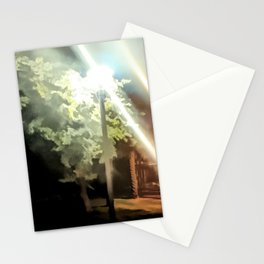 City Park at night 2 Stationery Cards