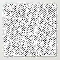 literary Canvas Prints featuring Literary Quotes by Abstract Graph Designs