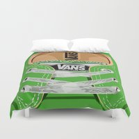 vans Duvet Covers featuring Cute Green Vans all star baby shoes apple iPhone 4 4s 5 5s 5c, ipod, ipad, pillow case and tshirt by Three Second