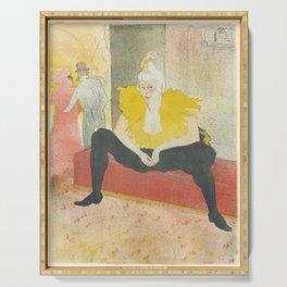 """Henri de Toulouse-Lautrec """"Sitting Clown"""" Serving Tray"""