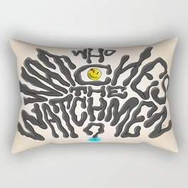 Who Watches The Watchmen Rectangular Pillow