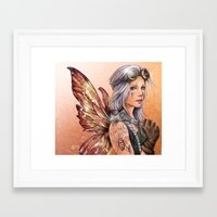 engineer Framed Art Prints featuring Engineer Fairy by Mortimer Sparrow