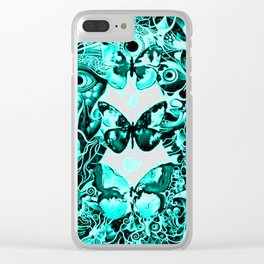 Butterfly Eyes Clear iPhone Case