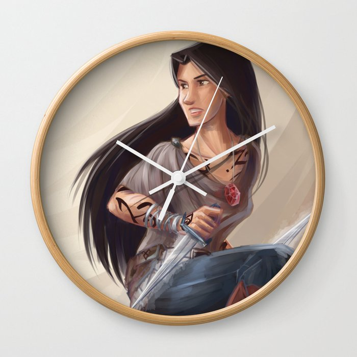 Isabelle Lightwood Wall Clock By Taratjah Society6