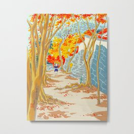 Tokuriki Tomikichiro Scenery of the 12 Months Ohara Sanzen Autumn Fall Colors Japanese Woodblock Metal Print