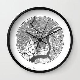 Philadelphia Map Universe Wall Clock